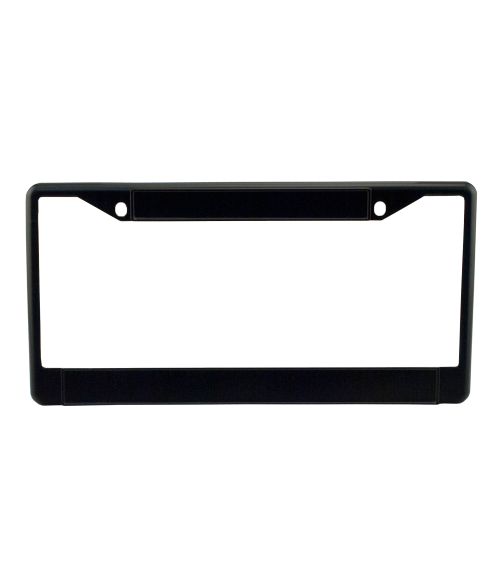 Black Metal License Plate Frame