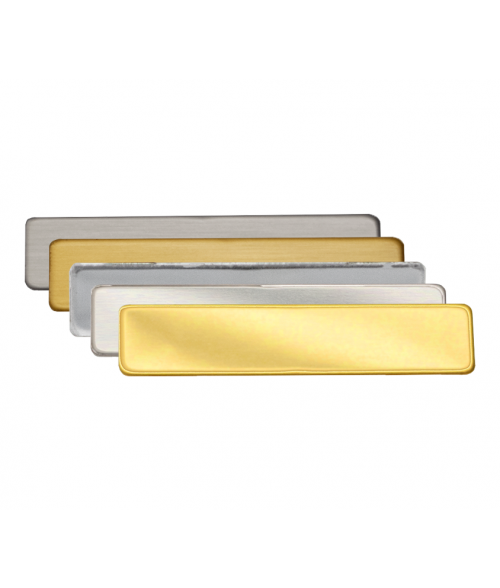 """3/8"""" x 2-1/4"""" Metal Name Tag With Plain Back"""