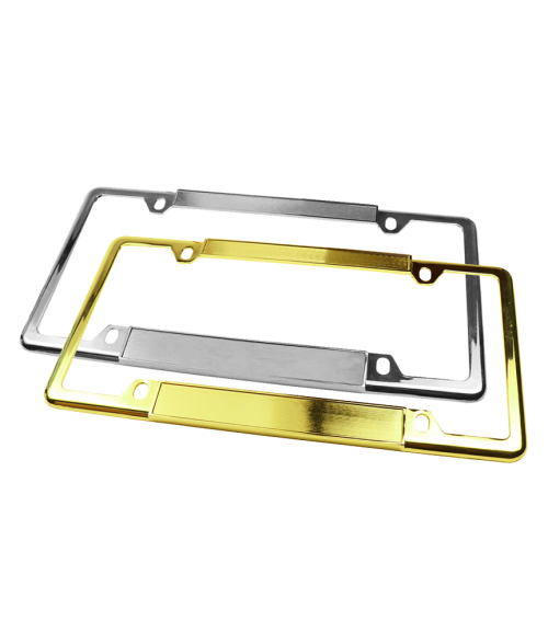 Metallic License Plate Frame