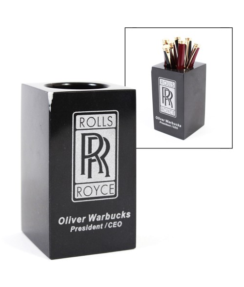 Black Marble Pen/Pencil Holder
