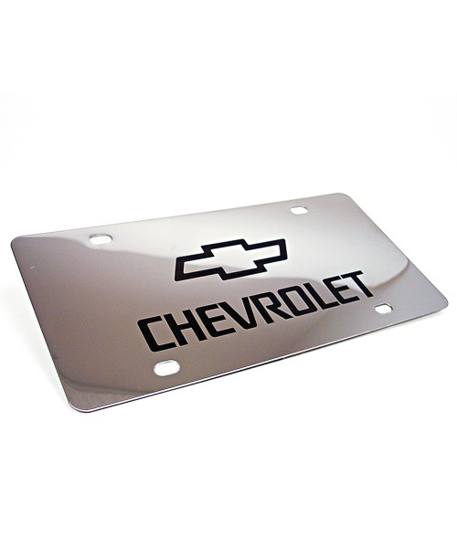 Polished Stainless Steel Laserable License Plate