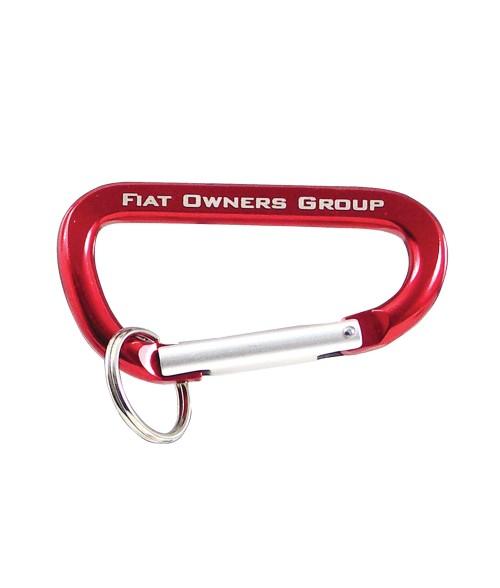 Red Carabineer Key Ring