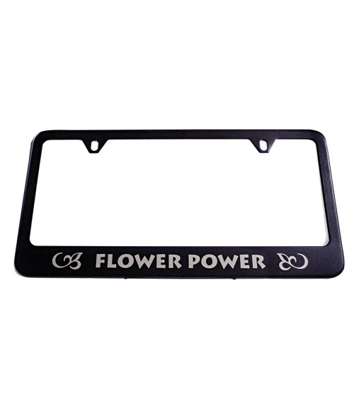 Black Laserable License Plate Frame