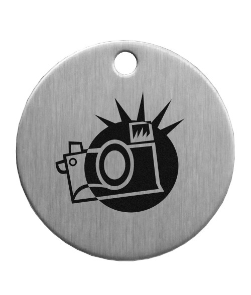 "1-1/2"" Stainless Steel Circle Tag"