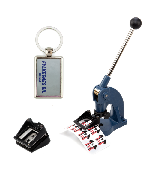 "Punch N Press Kit (.98"" x 1.57"" Key Chains)"