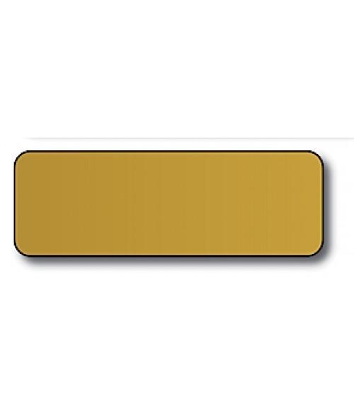 "Gold 1"" x 3"" x .060"" Print Receptive Blank PVC Card"