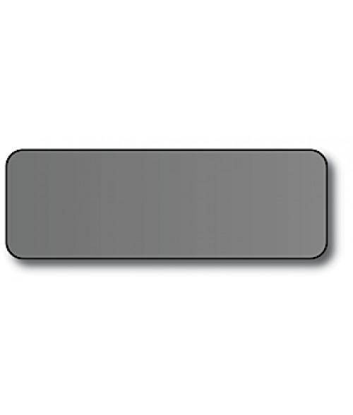 "Silver 1"" x 3"" x .030"" Print Receptive Blank PVC Card"