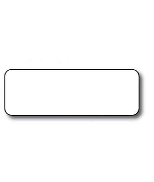 "White 1"" x 3"" x .060"" Print Receptive Blank PVC Card"