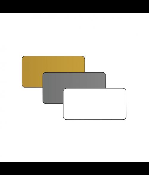 "1.5"" x 3"" Print Receptive Blank PVC Card"
