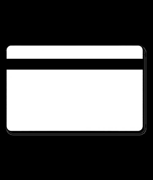 "Polar White/Black Printmark 1.5"" x 3"" x .060"" Print Receptive Blank Card"