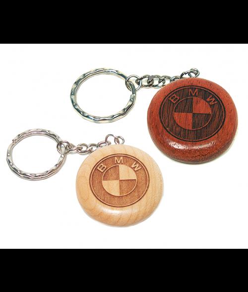 Wood Round Keychain