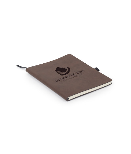 "Saddle Collection Bay Brown 7"" x 9"" Laserable Leather Notebook"