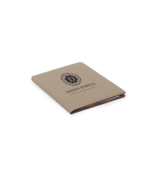 "Saddle Collection Buckskin 7"" x 9"" Laserable Leather Portfolio"