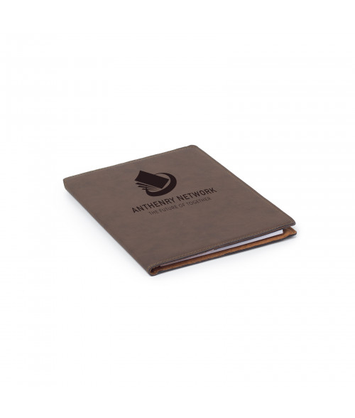 "Saddle Collection Bay Brown 7"" x 9"" Laserable Leather Portfolio"