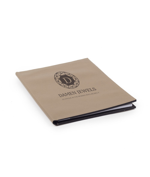 "Saddle Collection Buckskin 9.5"" x 12"" Laserable Leather Portfolio"