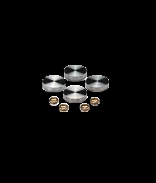 "MBS Satin Stainless Steel Screw Caps (1/2"" Diameter)"