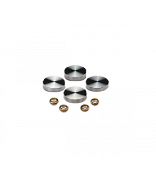"MBS Satin Stainless Steel Screw Caps (1"" Diameter)"