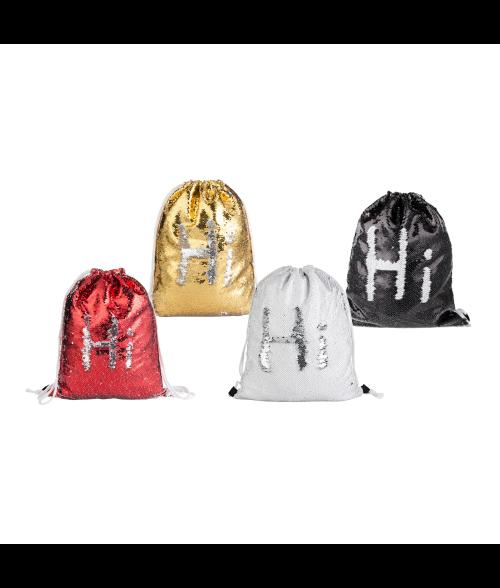 Sequin Drawstring Backpack