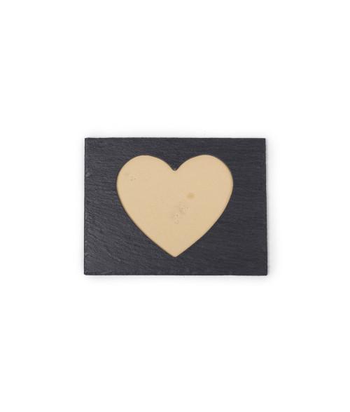 """9.53"""" x 7.48"""" Heart Shape Slate Frame"""