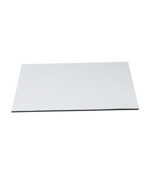 """1/8"""" Rubberized Sheet with White Polyester Surface (Mousepad Material)"""