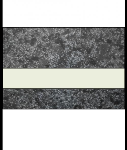 "IPI Architectural Stones Matte Deep Charcoal Marble/Bone White 1/16"" Engraving Plastic"