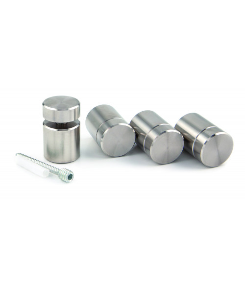 """Gyford Clear Anodized Stainless Steel 1"""" Diameter Stand-Offs Kit"""