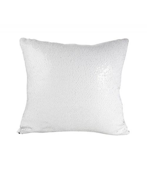 White/Silver Flip Sequin Pillow Cover