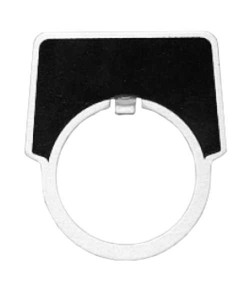 "Black 2"" x 1-13/16"" Aluminum Push Button Plate with 1-7/32"" Hole"