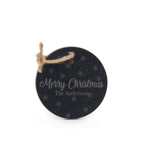 "3"" Round Slate Ornament"