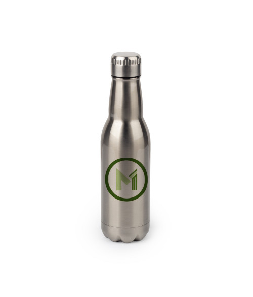 16 oz Stainless Silver Beer Bottle