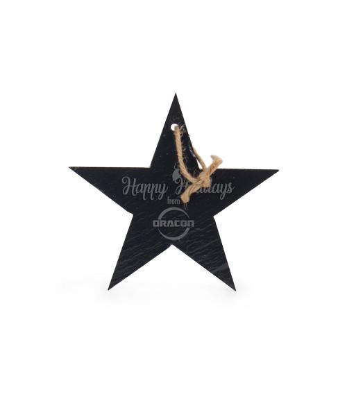 "5"" Star Slate Ornament"