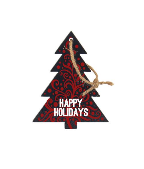 "5"" Tree Slate Ornament"