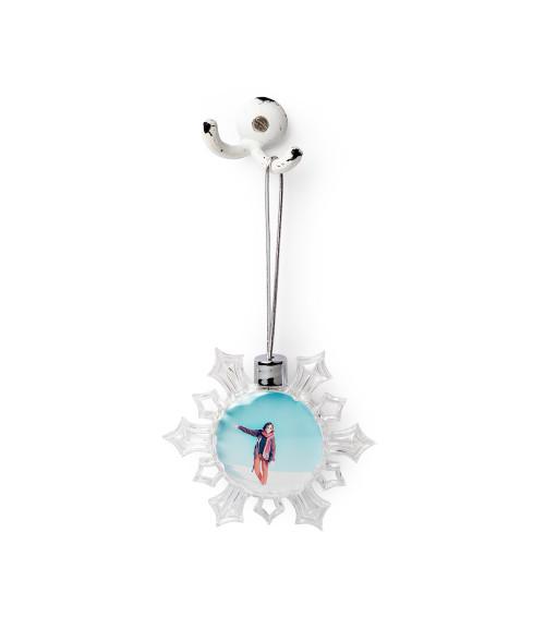 Oval Snowflake Ornament