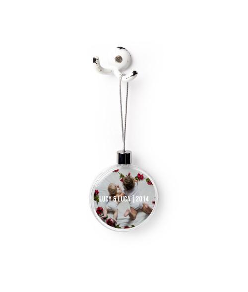 Round Plastic Ornament