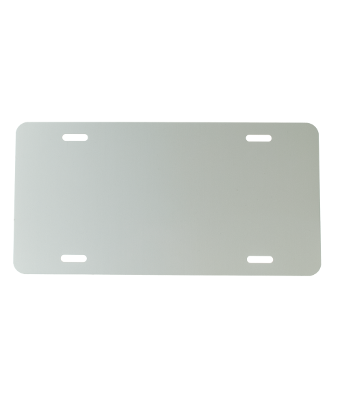 "White 6"" x 12"" .030"" Aluminum Economy License Plate"