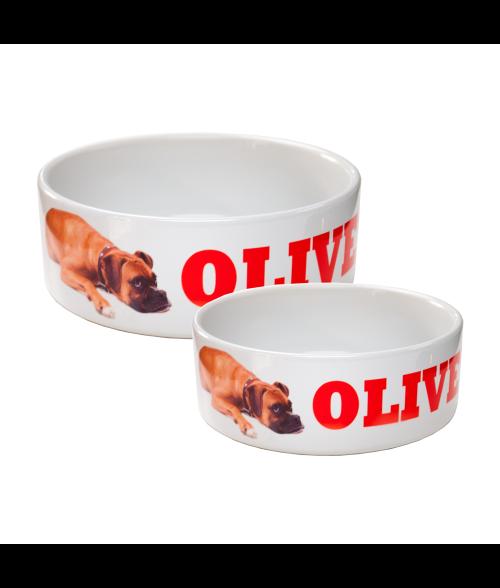 White Ceramic Pet Bowl