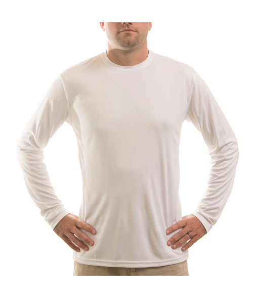 Vapor Adult White Solar Long Sleeve Tee