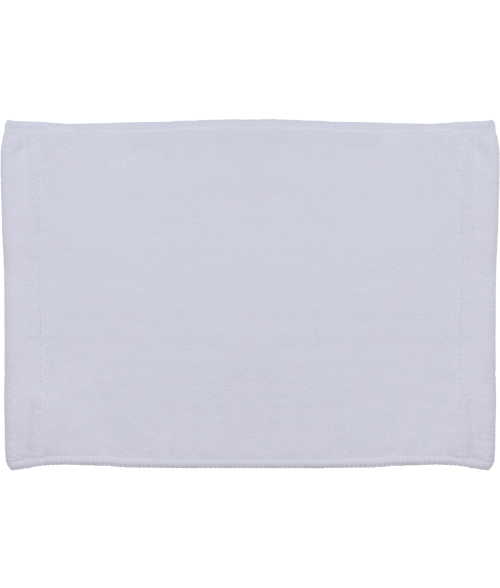 "White 8"" x 12"" Microfiber Velour Towel"