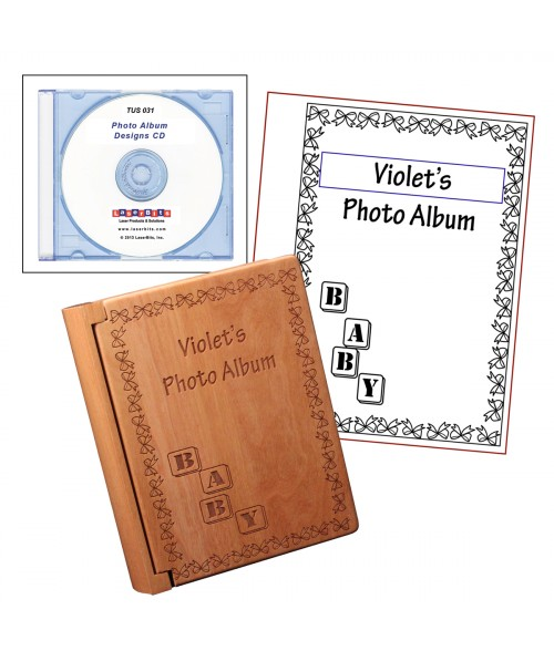 LaserBits Photo Album Template CD