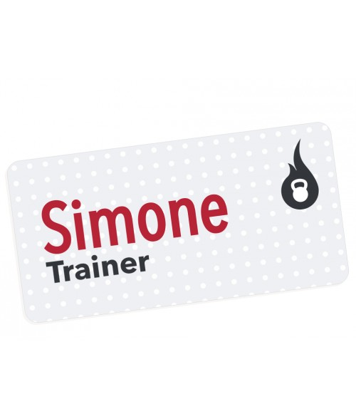 "Unisub Matte White 1-1/2"" x 3"" FRP Name Badge"