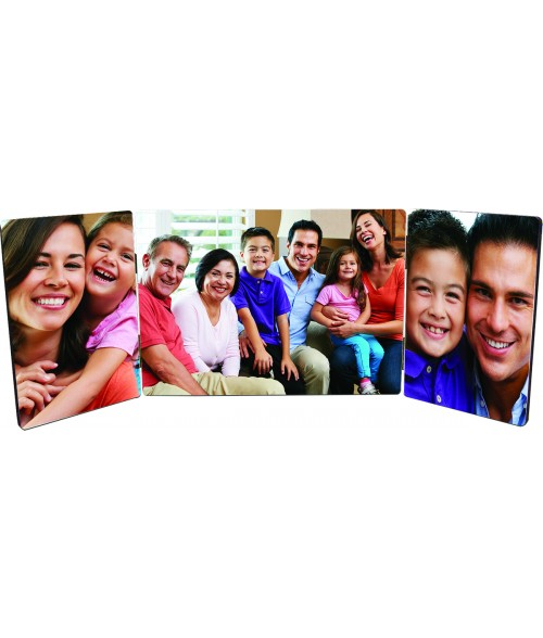 "Unisub ChromaLuxe 5"" x 14"" Flat Top Triple Hardboard Photo Panel Set"