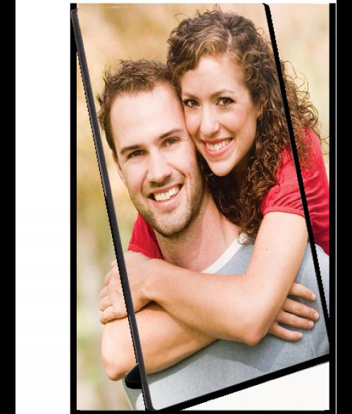 "Unisub ChromaLuxe Semi-Gloss 8"" x 10"" Hardboard Photo Panel with Kickstand Easel"