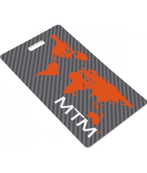"Unisub Gloss White 4-1/4"" x 2-1/2"" FRP Business Card Tag"