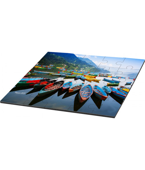 "Unisub 6-11/16"" x 6-11/16"" Square Hardboard Jigsaw Puzzle (25 Pieces)"