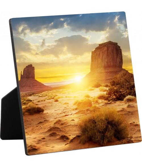 """Unisub ChromaLuxe 6"""" x 6"""" Flat Top Hardboard Photo Panel with Easel"""