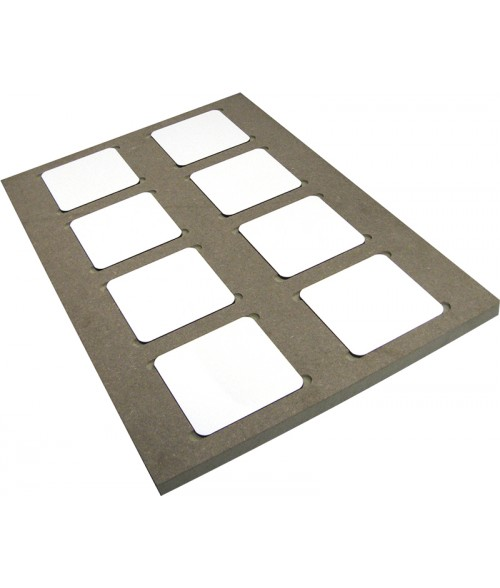 "Unisub 13"" x 19"" Jig for (8) UN5677 Coasters"