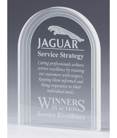 Clear Triple Edge Stand Up Award
