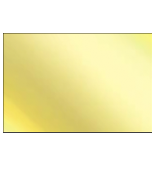 "Super Metal Gloss Gold 12"" x 24"" 1-Sided Aluminum Sheet"