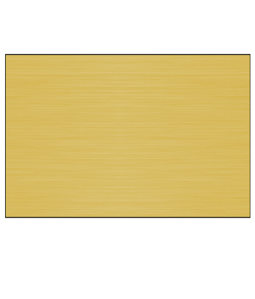"Gloss Brushed Brass 12"" x 24"" 1-Sided Aluminum Sheet"
