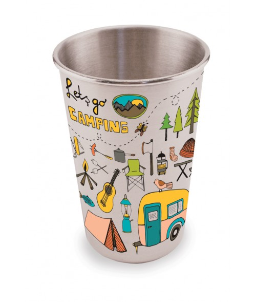 Silver 18oz Stainless Steel Pint Glass